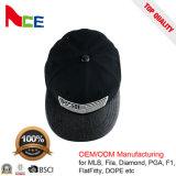 Personalizar os chapéus de couro da borda do plutônio do tampão do Snapback do leopardo para a venda por atacado