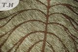 2017 100%년 폴리에스테 큰 잎 자카드 직물 소파와 가구 직물