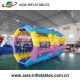 Roda inflável para miúdos, jogo de passeio do rolo do hamster do jogo da água do rolo