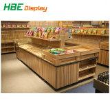 Супермаркет деревянных фруктов овощей дисплей для установки в стойку