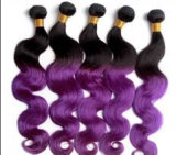 Бразильский Реми человеческого волоса плетение волос кривой тела продление Омбре цвет
