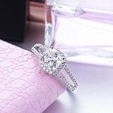 anello cubico placcato dell'argento di Zirconia dell'oro bianco 18K da vendere