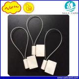 RFID NFC Anlagegut versieht rote Anlagegut-Dichtungs-Draht Marke-NXP Ntag213 mit Warnschild