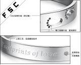 Onlangs personaliseerde het Ontwerp Goedkope Voetafdrukken van de Armbanden van de Liefde voor Paren