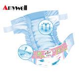 OEM/ODMの超薄い低価格の着色された使い捨て可能な赤ん坊のおむつ