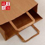 Bolso de calidad superior de la maneta del papel del arte del color de Brown hecho en China