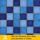 Het Ceramische Mozaïek van de Vorm van de golf voor Zwembad 6mm Blauwe Mengeling