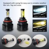 Super brillante 3000K 6500K LED de luces de niebla H7, H11 de alta potencia de las bombillas de 12V 24V Dual colores CREE H4 para coche Faro LED