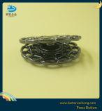Rack de placage nickel métal noir Appuyez sur les boutons de vêtement
