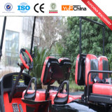 Carrello di golf elettrico di vendita 6 di Seater 4 dell'azionamento caldo della rotella