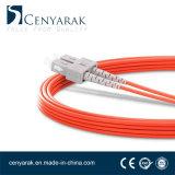 Duplex de 3 metros de cable de fibra óptica multimodo (50/125) Sc a St.