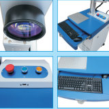 Größen-Faser-Laser-Markierungs-Maschine des Tisch-20W mit automatischem drehendem Tisch