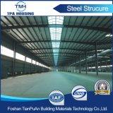 Entrepôt en acier préfabriqué de lumière de coût bas à vendre