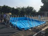 Gran material de PVC piscinas portátiles Piscinas de metal marco