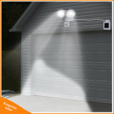 Cabezal doble exterior 22Solar LED Sensor de movimiento de la luz de seguridad