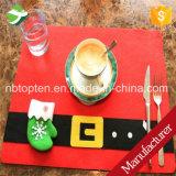 Estera del vajilla de la decoración de la cubierta del amortiguador del vector de Placemat de la Navidad de la manera