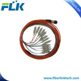 Cordon de connexion d'Assemblée de cavalier de la fibre optique MPO-Sc