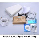 Amplificador móvil dual de la señal del aumentador de presión de la señal de la venda 900/2100MHz para 2g 3G