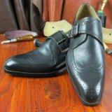 1つのペアの最小の量メンズオックスフォードの習慣の靴をステッチする形式的なGoodyearのふち飾り
