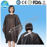 Nonwoven устранимая плаща-накидк вырезывания волос, плаща-накидк вырезывания Hairdressing
