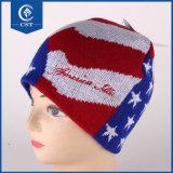 最もよい価格の卸売の高品質100%のアクリルのしまのある編まれた帽子