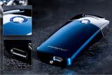 Allumeur rechargeable élégant de l'allumeur d'arc de plasma de cigarette en métal USB protégeant du vent