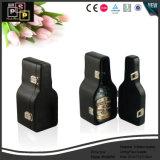 Pantalla personalizada cuero Paquete Vino botella individual forma de violín cajas (5496R4).