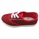 子供のスニーカーの履物のレースの偶然のズック靴(ZL1216-5)