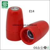 Support en céramique de lampe de Colshine E14 Edison, lumière de pendant de porcelaine de cru