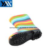 Таким образом новая конструкция удобной загрузки Веллингтона Детский ПВХ дождя ботинки