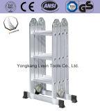 De multifunctionele Ladder van Hing van het Aluminium met 4*3 Stappen
