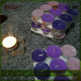 Цветные ароматических Tealight свечи в края алюминиевое основание