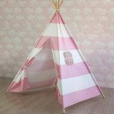 Tenda indiana della banda della tela di canapa dei bambini dell'interno esterni del cotone con Palo
