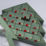 OEM PVC Windowsのクリスマスツリーの形チョコレートペーパーギフトの荷箱キャンデーボックス