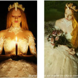 3/4 de vestido de casamento novo Lb18122 de Tulle do laço do vestido de esfera 2018 nupciais das luvas