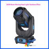 Haz de iluminación de escenarios 260W moviendo la cabeza/discoteca Eventos Iluminación DMX