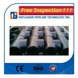 Te y Reductor de la instalación de tuberías de acero de la soldadura a tope