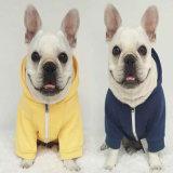 중국 애완견은 두건이 있는을%s 가진 도매 유행 귀여운 스마일리 옷 애완 동물 외투 개 옷을 입는다