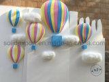 Aerostato ad aria calda della gomma piuma della visualizzazione della finestra della disposizione di scena dei puntelli di cerimonia nuziale per la decorazione del parco di divertimenti