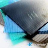 4mm/6mm/8mm/10mm/12mm Twin-Walls colorida a Folha de policarbonato Oco