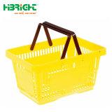 Panier de magasinage en plastique supermarché Simple Double Panier tenue en main