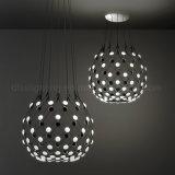 Decorativo moderno para el proyecto que enciende la lámpara blanca negra de acrílico de la lámpara del acoplamiento LED