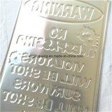金属の印に警告する安全上の注意