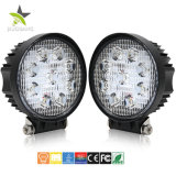 6500K Super Bright 4.3inch Round 27W phare de travail à LED