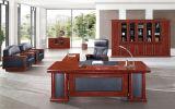 Secretária executiva CEO de mogno com gabinete de correspondência e cadeira