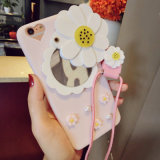 Verse Daisy Flowers Mirror Phone Case voor iPhone 7/7plus/X/8/8plus