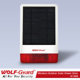 Sirene Solar exterior sem fios Wolf-Guard Jd-W06
