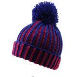 Шлем теплых Beanies зимы крышки POM шарика Mens женщин Unisex неоновый дневной связанный POM толщиной (HW114)
