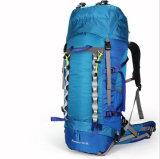 屋外60L旅行倍肩によって補強される防水オレンジ山のバックパック
