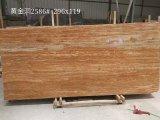 Opgepoetste Gouden Marmeren Countertop Slabs&Tiles Marmeren Flooring&Walling van de Travertijn